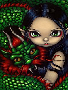 Emerald Guardian - Strangeling: The Art of Jasmine Becket-Griffith