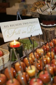 caramel apple favors for montana fall wedding - photos by Loneman Photography