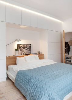 29 Trendy Bedroom Master Paint Colors With Dark Furniture Benjamin Moore Small Bedroom Storage, Small Master Bedroom, Blue Bedroom, Trendy Bedroom, Calm Bedroom, Master Bedrooms, Bedroom Modern, Small Bedrooms, Storage Room