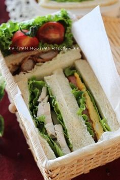 what a great way to pack sandwich    ** M☆M House's Kitchen **