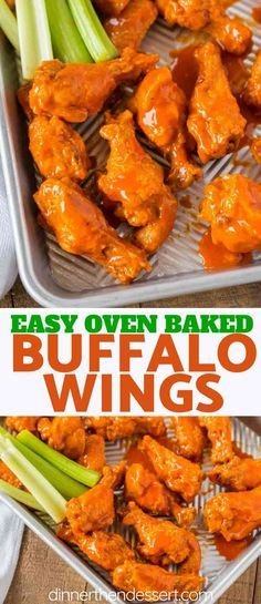 The BEST Buffalo Wings you'll and they're oven baked! Tossed with a delicious bu. The BEST Buffalo Wings you'll and they're oven baked! Tossed with a delicious buffalo wing sauce these will be the hit of your parties! Baked Chicken Wings Buffalo, Chicken Wings Spicy, Chicken Wing Recipes, Oven Baked Wings, Buffalo Wings Oven Recipe, Hot Buffalo Wings, Baking Wings In Oven, Chicken Breasts, Oven Hot Wings