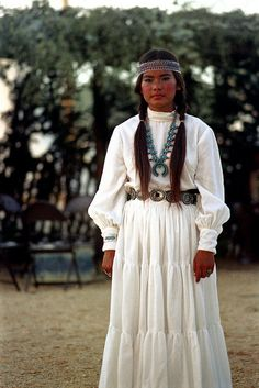 Beautiful Native American woman. I think she may be Apache. It's comparable to Navajo, but