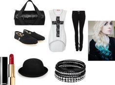 """Punk-Rock Style"" by nazier-navarro ❤ liked on Polyvore"