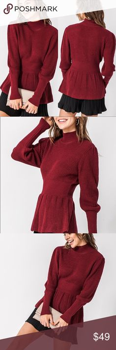Ladies Thick High Neck Side Split Jumper Sweater Chunky Cable Knit Dip Hem Top