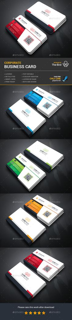 Creative Business Card — Photoshop PSD #logo #flyer • Available here → https://graphicriver.net/item/creative-business-card/14981423?ref=pxcr