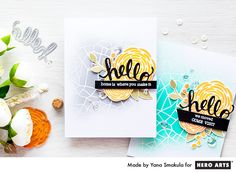 Partial background emboss resist (video tutorial) #cards #stamping #DIY