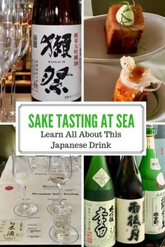 It is interesting to do a Sake tasting at sea. We tasted 5 different sakes and learned about the production and grading process. Japanese Drinks, Japanese Sake, Japanese Food, Small Meals, Italian Wine, Light Recipes, Wine Tasting, Discovery, Alcoholic Drinks