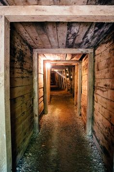 Tour an underground mine at Reed Gold Mine in Cabarrus County, NC. Dark Holes, Dungeon Room, Cave Entrance, Underground Shelter, Arcade Room, Planet Coaster, Creepy Images, Work Train, Timber Buildings