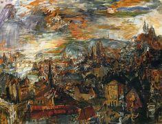 View of Prague - Oskar Kokoschka