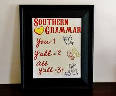 Southern Grammar Art Print. You Y'all All by GoodWitchBoutique