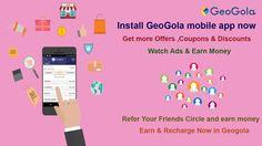 #Geogola #Recharge #Mobileapp  . #Watch Ads , #Refer ur Frnds , #Earn & #Recharge Link :http://lnk.al/1m40