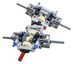 LEGO Technic Building Tip - Multiple Axle Differentials - Trend Lego Technic 2020 Lego Technic Truck, Lego Truck, Lego Mindstorms, Lego Wedo, Lego Moc, Lego Robot, Lego Avengers, Pokemon Lego, Lego Gears