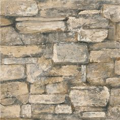 Bc1581934 Quarry Stone Brick Wallpaper By Design Color Black Totalwallcovering Com