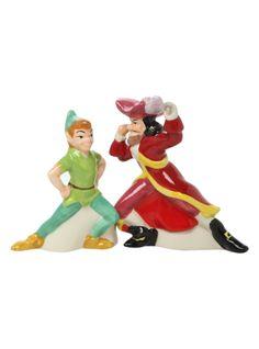 Disney Peter Pan And Hook Salt & Pepper Shakers | Hot Topic
