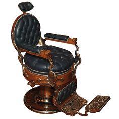 Antique American Barber's Chair circa 1890