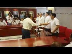 El Gobernador Alejandro Moreno entrega de títulos de concesiones a taxis...