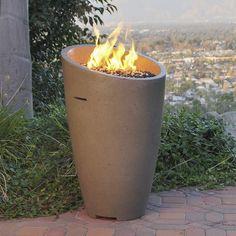 Propane Patio Fire Pit, Patio Gas, Gas Fire Pit Table, Diy Fire Pit, Garden Bathtub, Desert Backyard, Outside Fire Pits, Concrete Color, Gas Lights