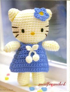 Crocheted Hello Kitty.