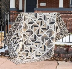 """Moda Black Tie Affair Best Dressed Quilt Kit - with a different border, this would be a good """"guy's quilt."""""""