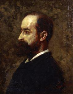 Tallone Cesare, Ritratto del pittore Ambrogio, Galleria d'Arte Moderna Ricci Oddi, Piacenza