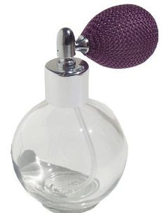 Empty Refillable Glass Perfume Bottle with Lavender Mesh Atomizer Bulb ~ New with Vintage Style (Color: Lavender, Tamaño: oz) Empty Perfume Bottles, Perfume Atomizer, Glass Bottles, Essential Oil Perfume, Beautiful Perfume, Skin Care Tools, Fashion Room, Decorative Accessories, Bulb