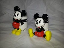 Mickey Mouse Disney Salt & Pepper Shakers by Gibson