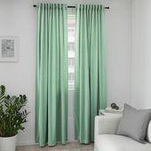 - Room Darkening Curtains - Ideas of Room Darkening Curtains #RoomDarkeningCurtains Thick Curtains, Scarf Curtains, Green Curtains, Velvet Curtains, Drapes Curtains, Silk Drapes, Room Darkening Curtains, Curtains Living, Living Room Green