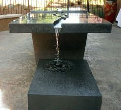 Concrete Waterfall Table