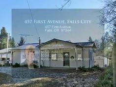 Now Sold for $85,000 -- 457 First Avenue, Falls City  Great 1st Home or Investment on 0.36 Acre Lot - 2 BR / 2 BA, 1,278 SF manf home with many updates. Charming covered front porch, living room with pellet stove, large master, huge util. room, metal roof, double carport, 1,664 SF separate shop. Contact me for PROVEN RESULTS. Thanks, Donna 503-931-5677 donnagrahamrealtor.com