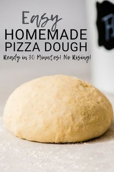 This Easy Homemade qa es un poco Dough recipe yields the best ever homemade pizza in 30 minutes FLAT! It's made with only 5 ingredients and does not require any rising! Plus it is vegan with a gluten-free option! Pizza Legal, Bon Dessert, Good Pizza, Quick Pizza, Perfect Pizza, Sandwiches, Cooking Recipes, Kitchen Recipes, Gluten Free Pizza