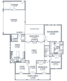Plan: SD-9465-205 http://www.southerndesigner.com 2000 sq ft home plan; 3 BR; 2.5 baths Hate the exterior.  What could be changed?