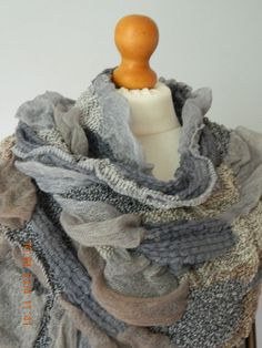 NEW QUIRKY SOFT LAGENLOOK WAFFLE SCARF WRAP GREY/TAUPE GREEN/BROWN PINK/LAVENDER