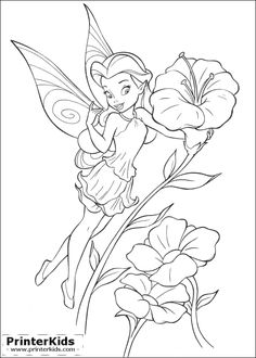 91 best TINKERBELL COLORING PAGES images on Pinterest | Coloring ...
