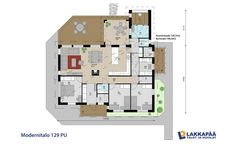 Modernitalo 129 PU Future House, Floor Plans, Layout, How To Plan, House Ideas, Houses, Homes, Page Layout, House