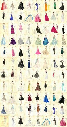 retro fashion illustrations