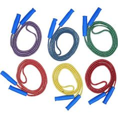 Champion Diamond Braided 8' Jump Rope, Assorted Color, Pack of 6