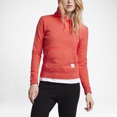 Converse Essentials Sportswear Pullover Women's Hoodie Size Medium (Red)
