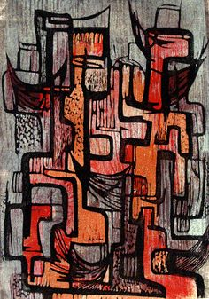 Hildegarde Haas | Canyon Walls - Noon 1953