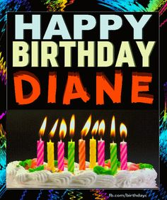 Are you looking for inspiration for happy birthday typography?Check out the post right here for unique birthday inspiration.May the this special day bring you love. Happy Birthday Cousin Female, Happy Birthday Diane, Happy Birthday Gif Images, Happy Birthday Wishes For Him, Happy Birthday Greeting Card, Birthday Cards For Women, Happy Birthday Funny, Birthday Name, Birthday Gifs