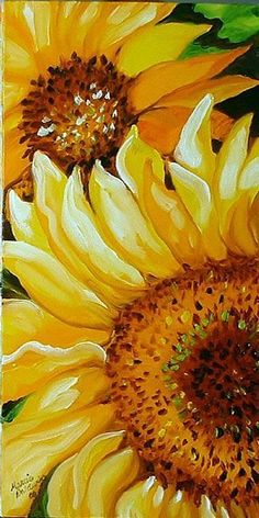 Having the power to turn a plain white canvas into something colorful, something amazing with Easy and Beautiful Canvas Painting Ideas for Beginners to Try. Art Floral, Watercolor Flowers, Watercolor Paintings, Watercolor Sunflower, Easy Watercolor, Drawing Flowers, Sunflower Art, Sunflower Paintings, Paintings Of Sunflowers