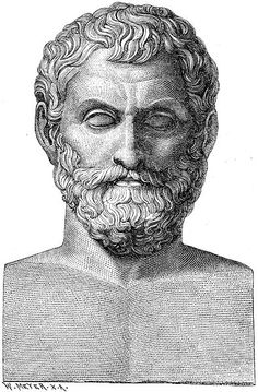 "Thales of Miletus was a pre-Socratic Greek philosopher, mathematician from Miletus in Asia Minor and one of the Seven Sages of Greece. Many, most notably Aristotle, regard him as the first philosopher in the Greek tradition. Aristotle reported Thales' hypothesis that the originating principle of nature and the nature of matter was a single material substance: Water. He was the first to define general principles and set forth hypotheses, and as a result has been dubbed the ""Father of…"