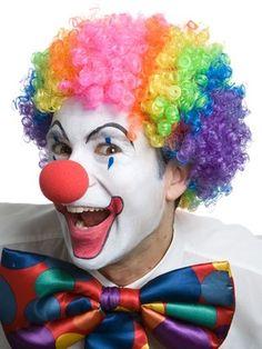 Clown Curly Jumbo Rainbow Costume Party Wig