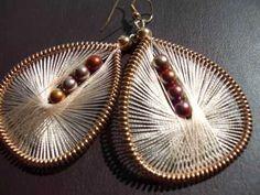 Handmade Thread Earrings by Funky Lobez www.funkylobez.etsy.com IDEAS... NO INSTRUCTIONS