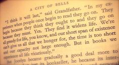 One of my favorite authors, Elizabeth Goudge. From A City of Bells