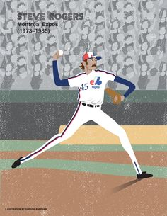 Montreal Expos Legends-Print Illustration 8 x 11 in and 5 in Expos Baseball, Baseball Cards, Steve Rogers, Expos Montreal, Westerns, Portrait Illustration, 50th Anniversary, Illustrations, Family Portraits