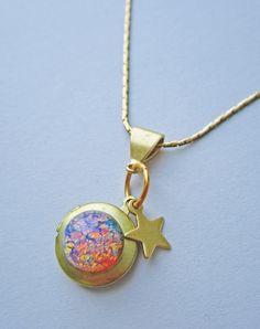 Galaxy Quest Opal Nebula Locket