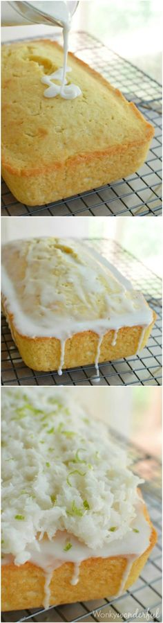 Coconut Bread with Lime Glaze - This quick bread recipe is easy, delicious and perfect for your holiday baking!  #plantprotein