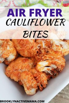 This super easy buffalo air fryer cauliflower recipe is so simple to make with only two ingredients! it is the perfect side dish or big game appetizer! Cauliflower Vegetable, Cauliflower Bites, Buffalo Cauliflower, Cauliflower Recipes, Quick Side Dishes, Healthy Side Dishes, Vegetable Side Dishes, Vegan Dinner Recipes, Vegan Dinners