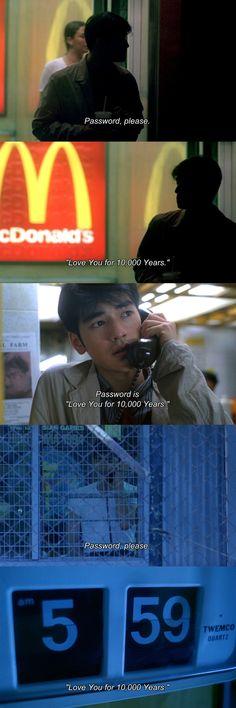lovelorn passwords. (Chungking express)
