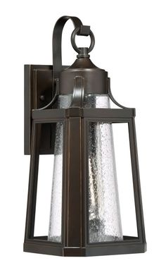 """Buy the Quoizel LTE8407PN Palladian Bronze Direct. Shop for the Quoizel LTE8407PN Palladian Bronze Lighthouse Single Light 17"""" Tall Outdoor Lantern Style Wall Sconce with Seedy Glass Shade and save."""